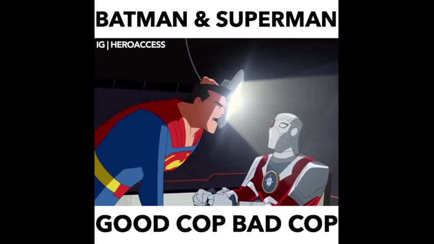Bad Good Cop Bad Bad Cop. . BATMAN ?, SUPERMAN IE I. Good Cop/Bad Cop always make me think of my first time playing DnD. I was in a one off for me, since I was visiting my grandparents. Uncle (nice guy, but stayed