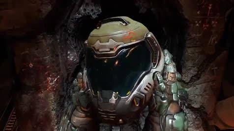 Doom 2016. .. The speed he threw the monitor away...