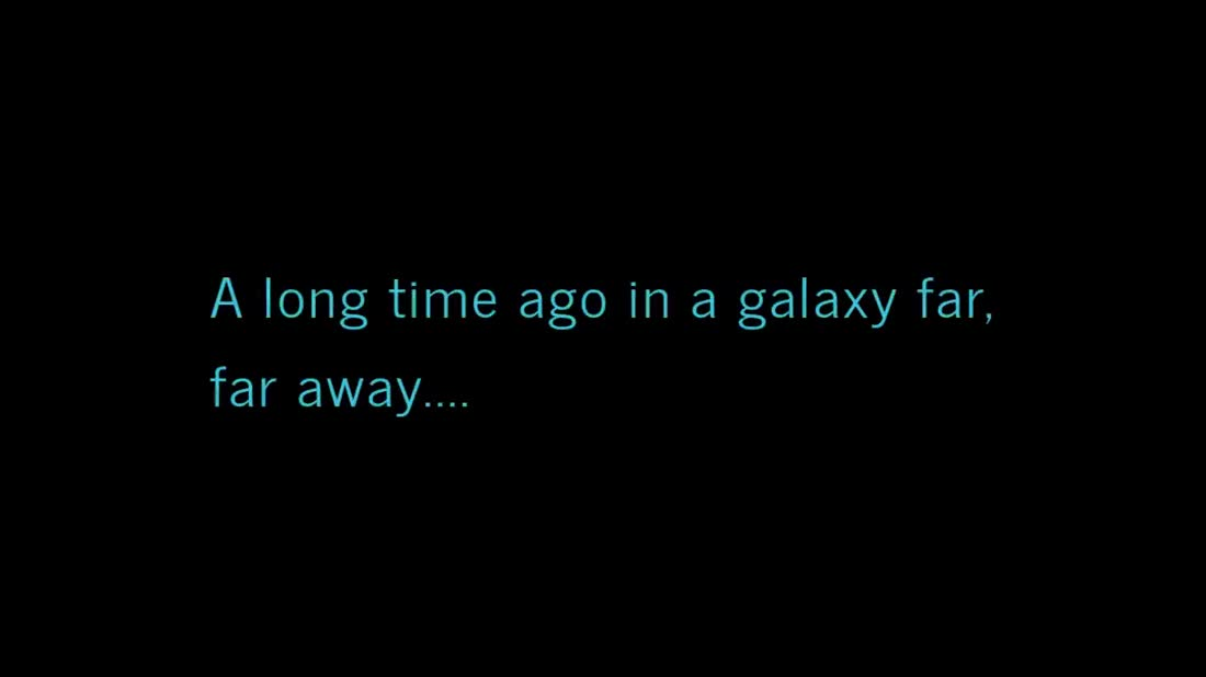 a long time ago, in a galaxy far away... .. We love you too!