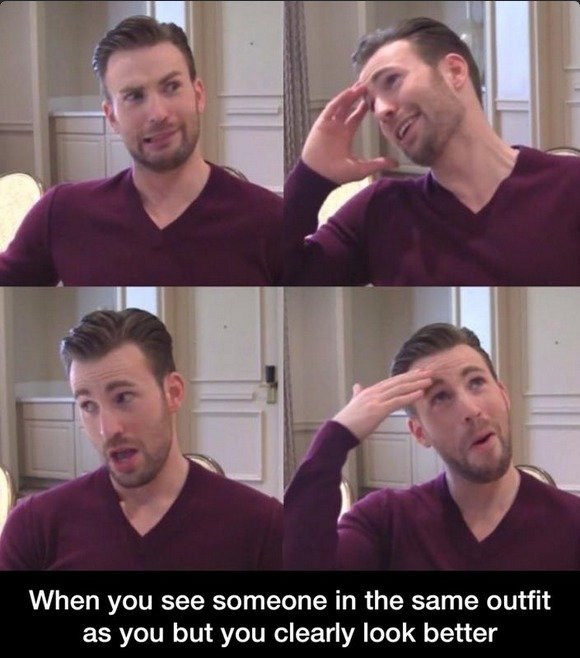 I'm Fabulous. . When you see someone in the same outfit as you but you clearly look better