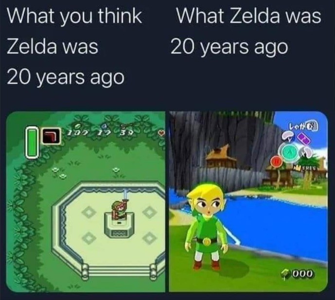 A Link to the Past. .. time passed again no one tell the internet