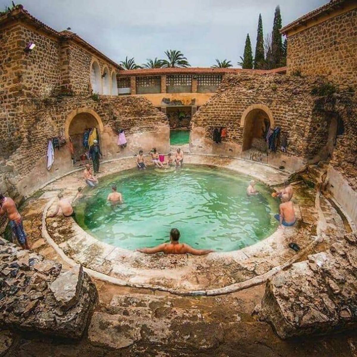 A ROMAN BATHHOUSE STILL IN USE AFTER 2,000 YRS KHENCHELA, ALGERIA. .. Mmmmm ancient syphilis