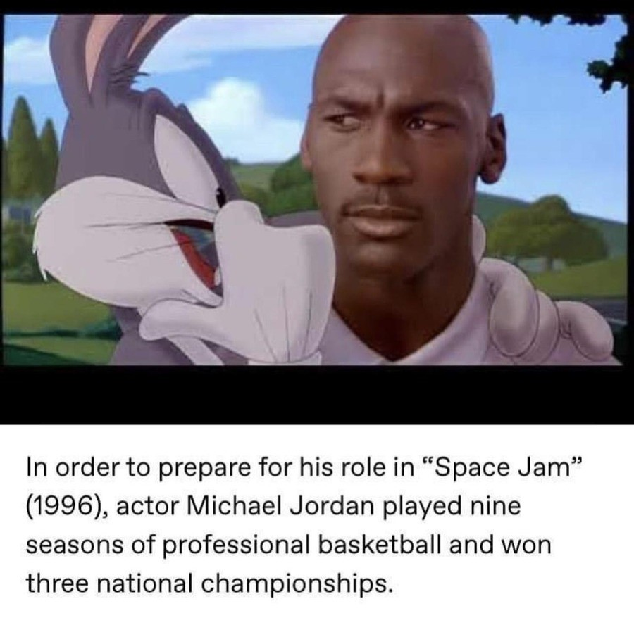 """A Thespian Dedicted to the Craft. .. Remember when he said """"that's my jam, my space jam""""?"""