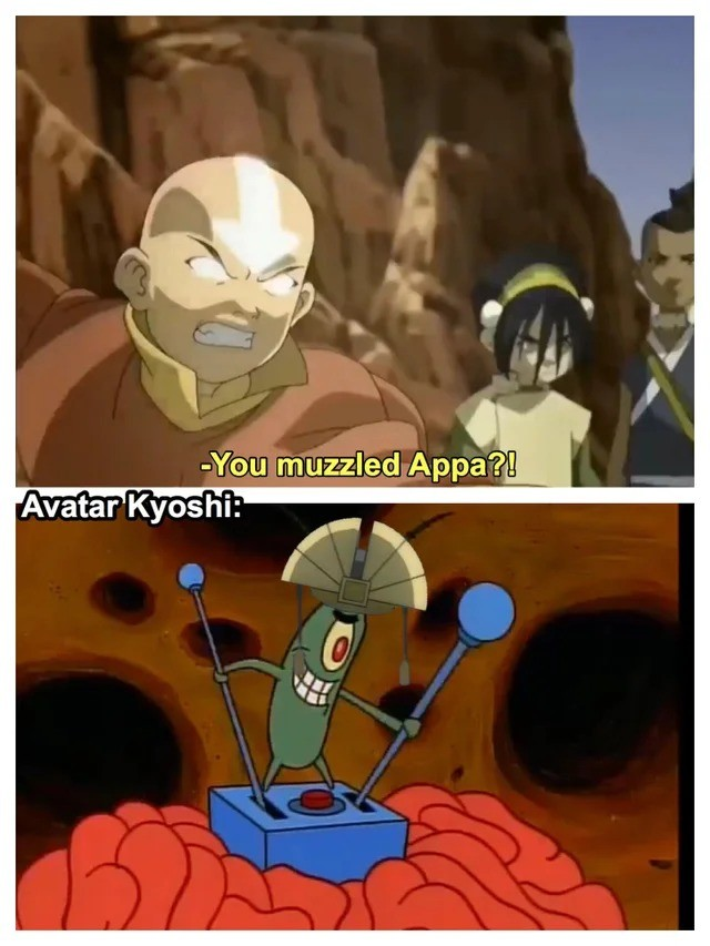 aang!. .. this scene was just so badass. like, he insta-glowed with no real warning, and while he may not have been able to be in control of the avatar state yet, he was