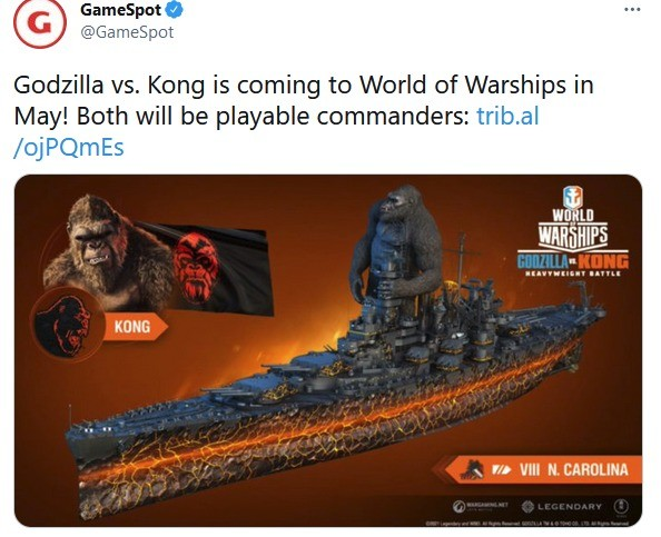 amazin!. .. Only usable if Kong and Godzilla on top of the different ships attack each other if close enough.