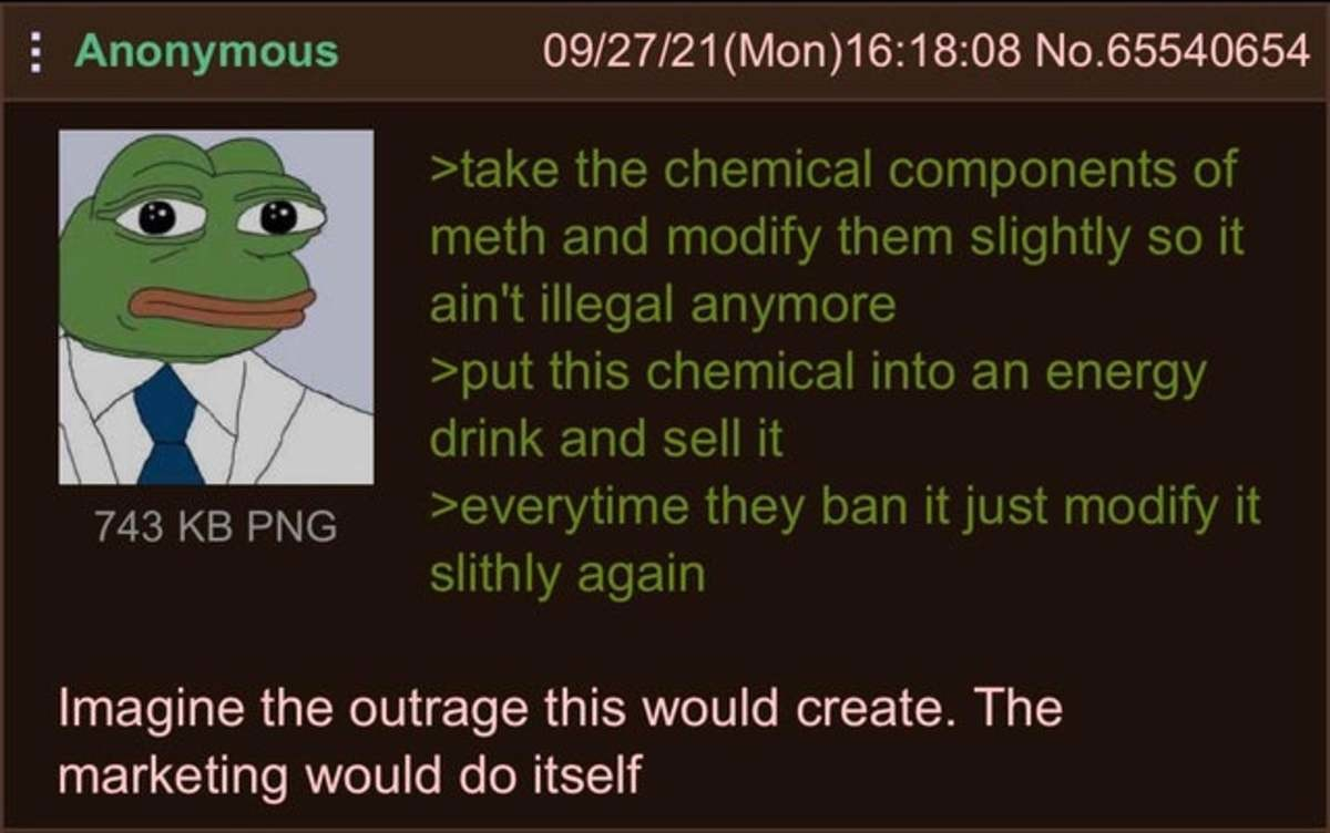 """Anon is a Chemist. .. Reminds me of the days of smoking fake """"weed"""" you bought from gas stations sold as """"incense""""."""