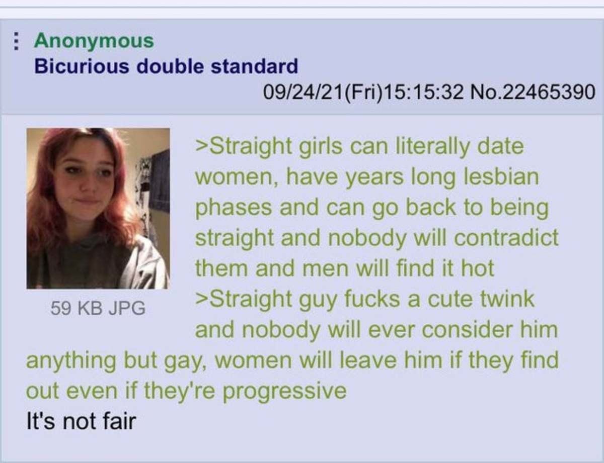 Anon is Curious. .. I think my wife suspects that I used to have sex with men. This concerns me to no end, particularly because I never did.
