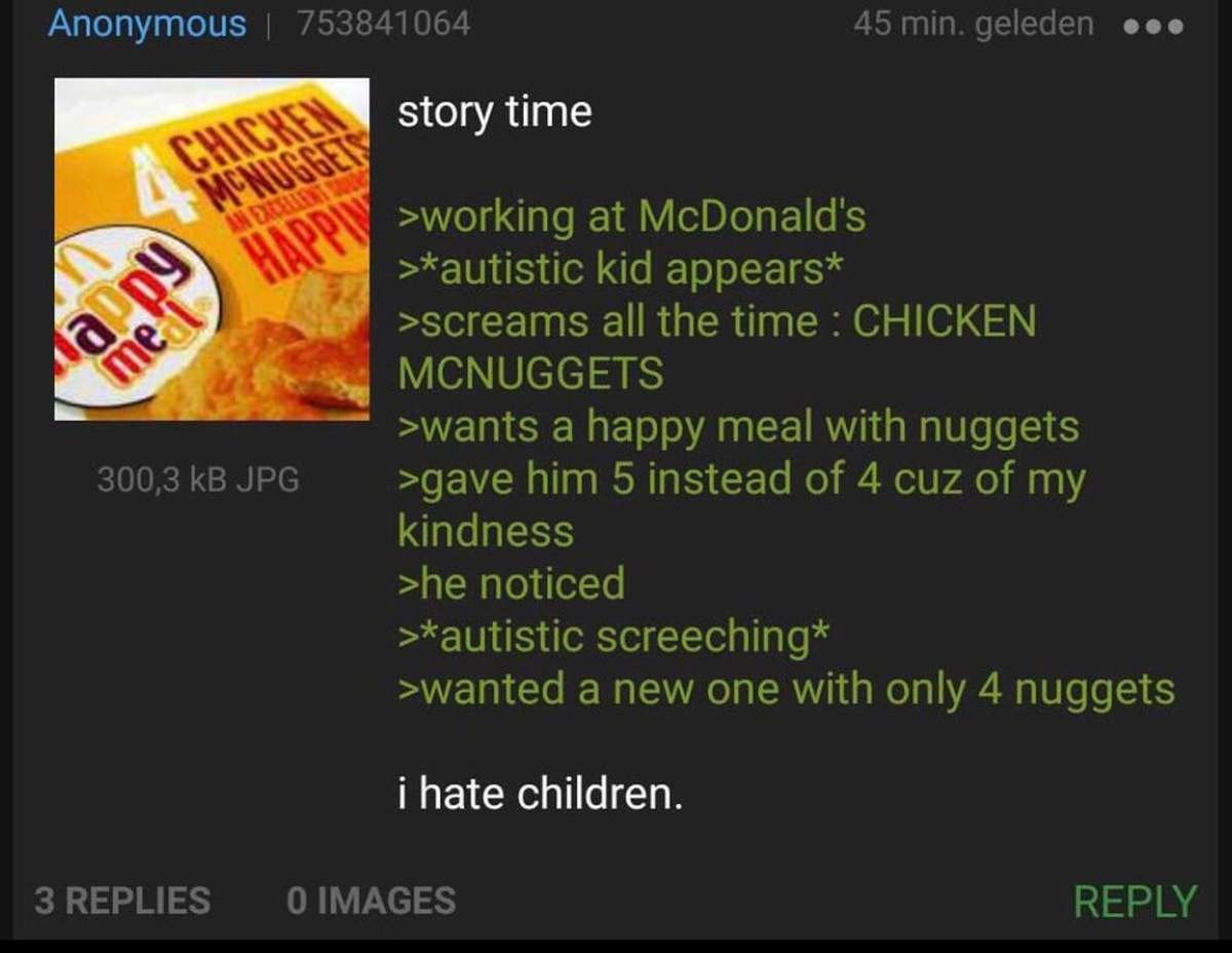anon works at macdonald. .. Sometimes less is more.