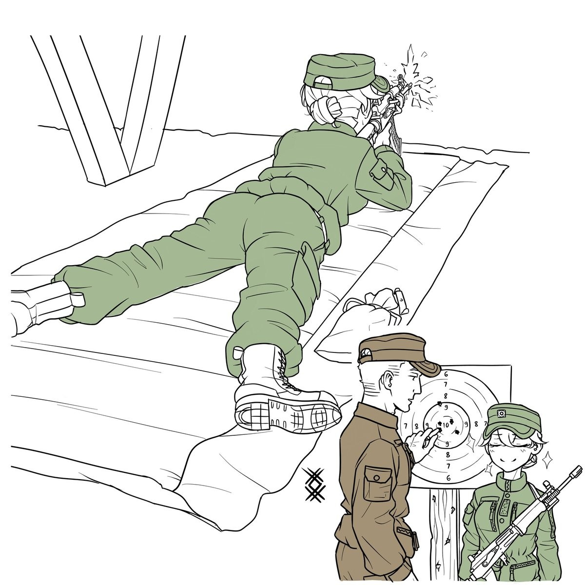 Army chan is good shot. .. I'm now reminded that their was a weeb in the Marine Corps who somehow made a popular web comic about an anime girl who joined the Marines.