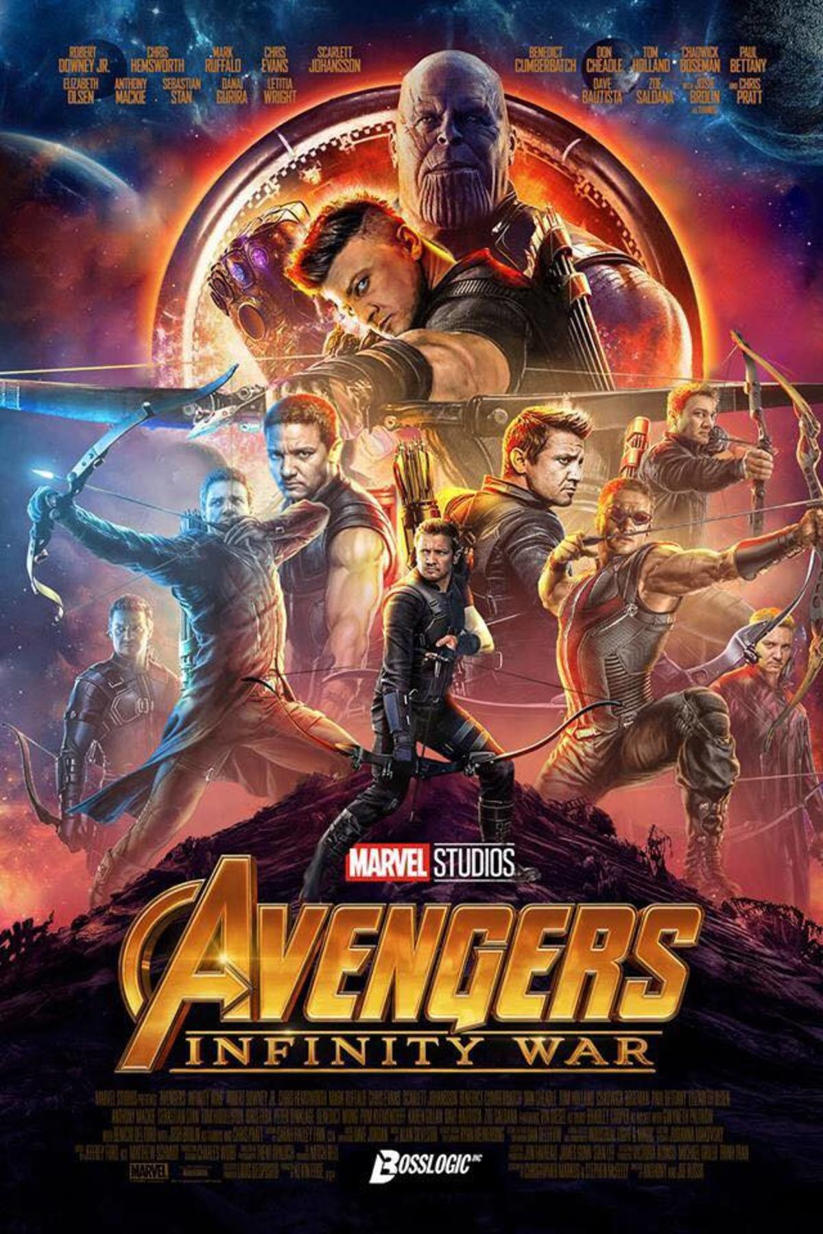 Avengers: Infinity war poster. join list: MarvelStuff (205 subs)Mention History. INFINITY Berral. Featuring Hawk eye, Eagle optic, Raven cornea, Vulture pupil, Falcon Retina, Raptor Lens, Pigeon Sight, Gull Perception and Owl Vision