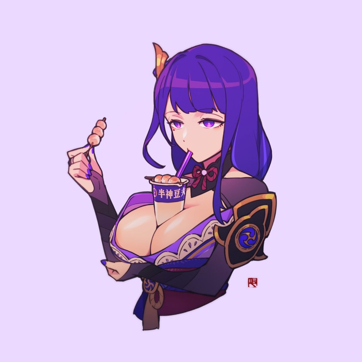 Baal boobies. I'm not a simp but uhh....... yes I am. Shes starting to come along nicely, or at least being usable in Inazuma overworld and high level domains/a