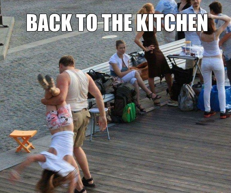 back to the kitchen. .
