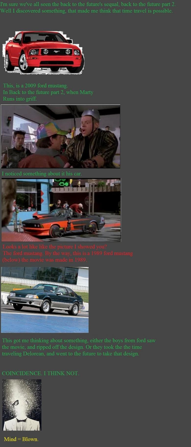 Back to the future mind . just kinda stumbled upon it, just wanted to share.... Mind = Blown.. You to realise that bigs car is a BMW 633CSi right??