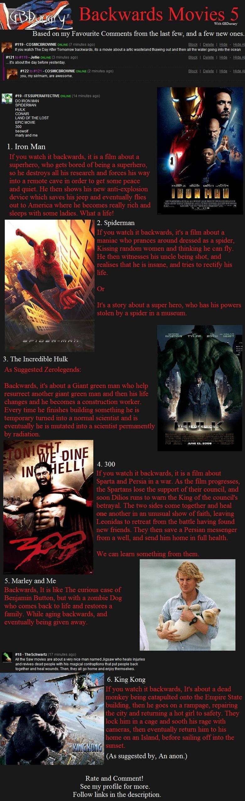 """Backwards Movies 5. Part 7 is here: <a href=""""pictures/456110/Backwards+Movies+7+Life/"""" target=blank>funnyjunk.com/funnypictures/456110/Backwards"""