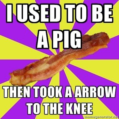 Bacon Arrow. Bacon!. WEI I as
