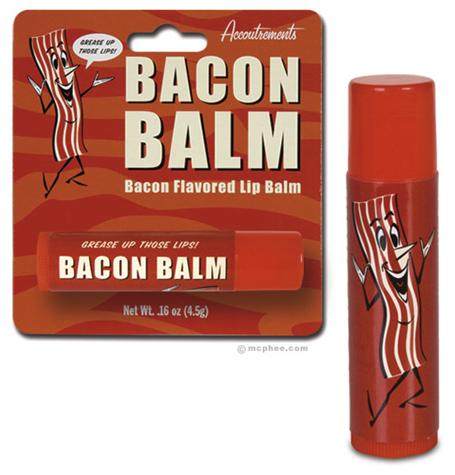 Bacon Balm. Bacon + lip balm = WIN!.. it needs wings, then PERFECTION!