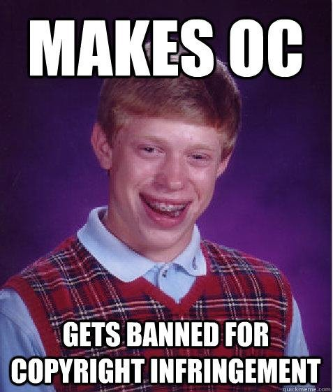 Bad Luck and Banned. OC by causeodeath P.S. This happened to me, thanks FJ..