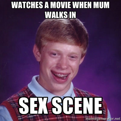 BAD LUCK BRIAN STRIKES AGAIN. im Australian so there is no difference between mom and mum. warms ll mini mum wag; IN Urey. . nian