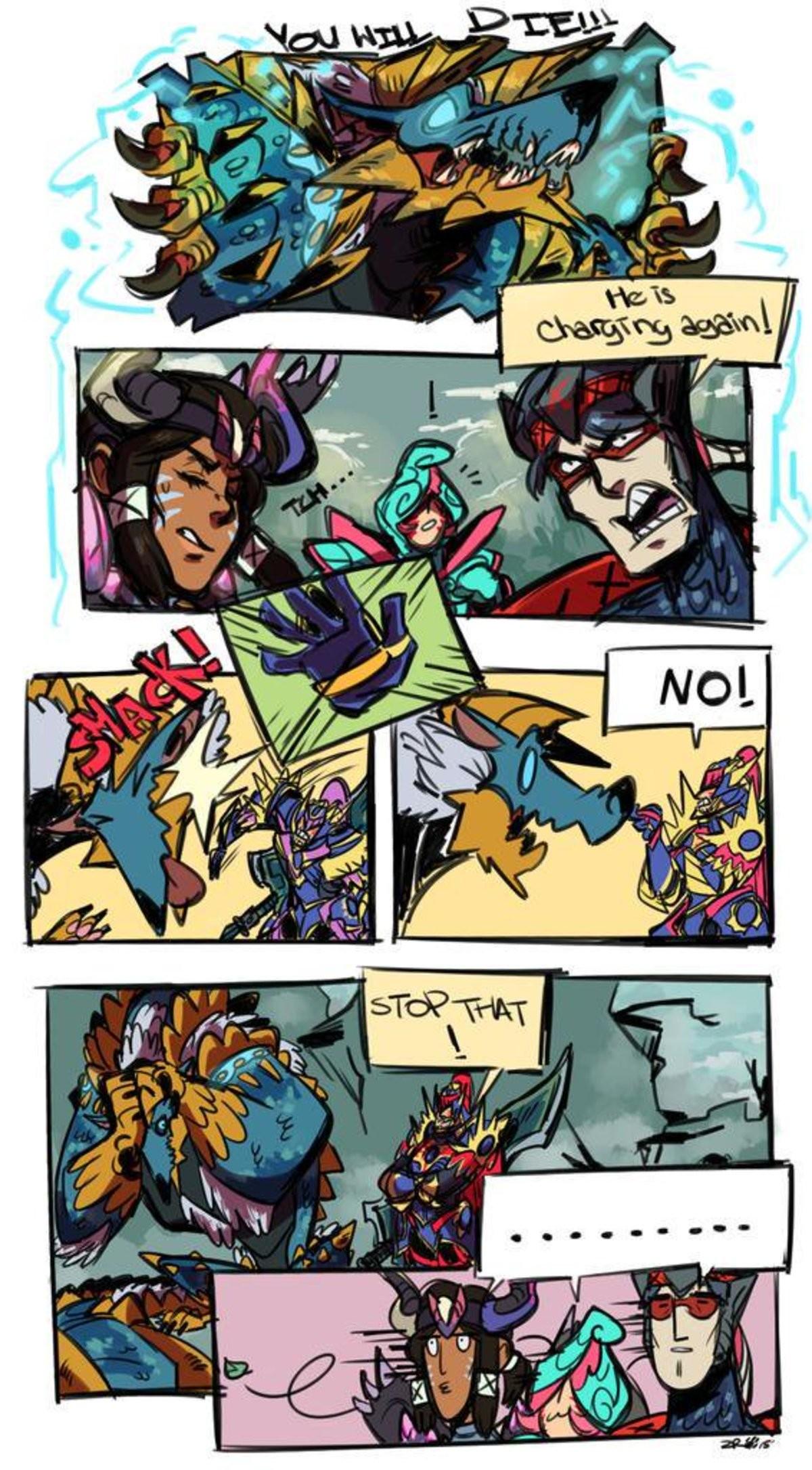 Bad monster, no. .