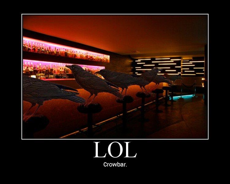 Bad pun. hahaha....sigh. Crow's r.
