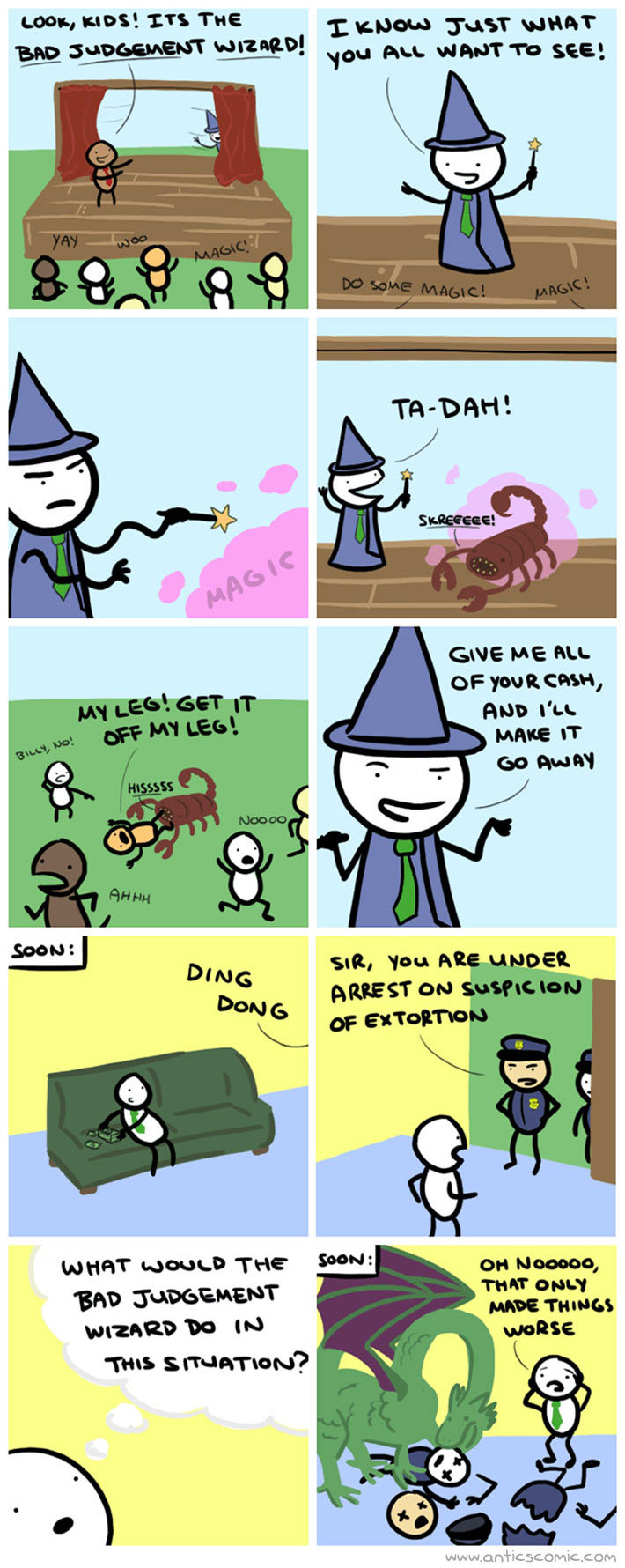 """Bad Judgment Wizard. Hope you enjoy credit goes to artist Sorry if its a repost):. yuan, dunnit 'ITS THE 1: 'pun Crust"""" Pu any wharf: set'."""