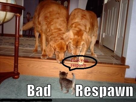 Bad Respwan. Dont you just hate campers on Call of duty. lit). To be annihilated!