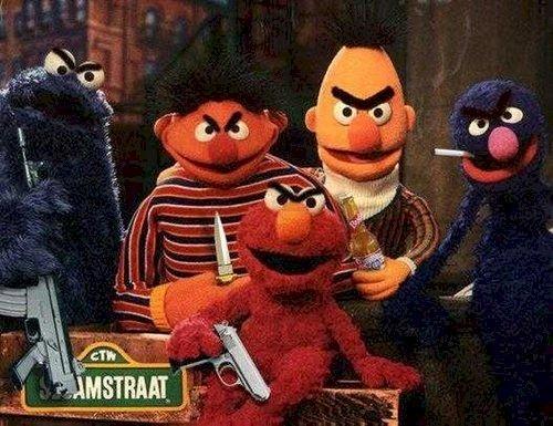 Bada Bing Bada Boom. Sesame street mafia.. REPOST