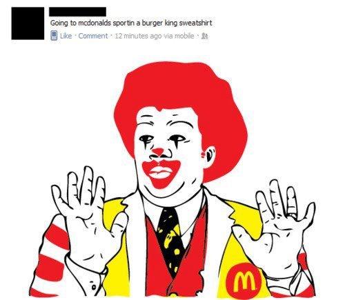 badass ronald mcdonald. . aber . E 'cke Cc, mrr
