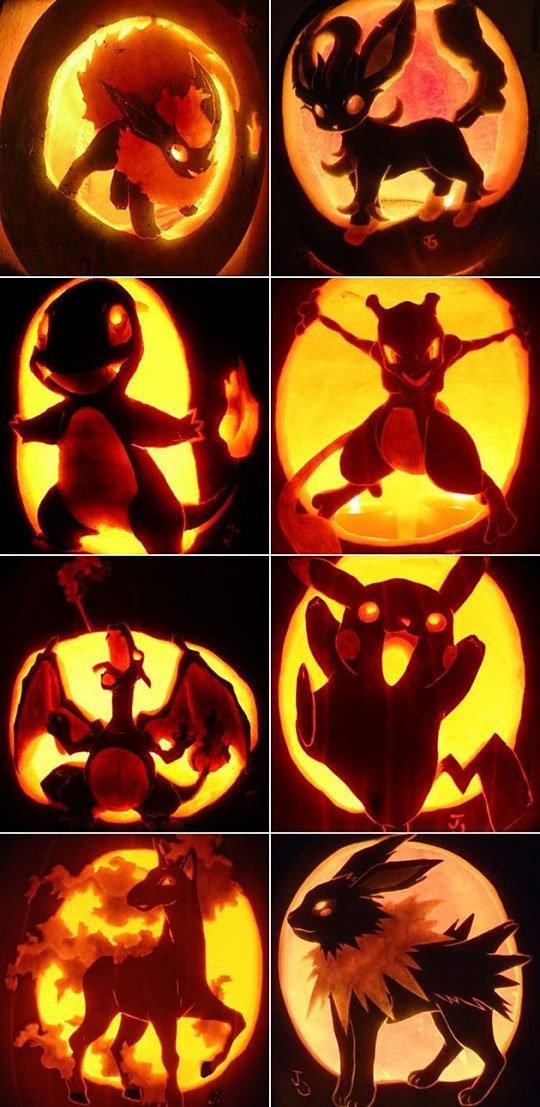 Badass Pokemon Pumpkins. .