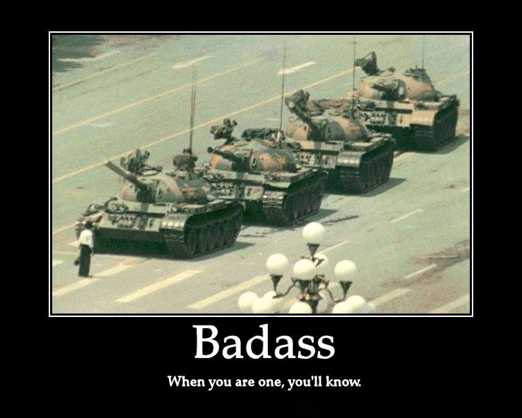 Badass. i have a feeling he is one. B a til ass When you are one, know,. excuse me sir your on my baby