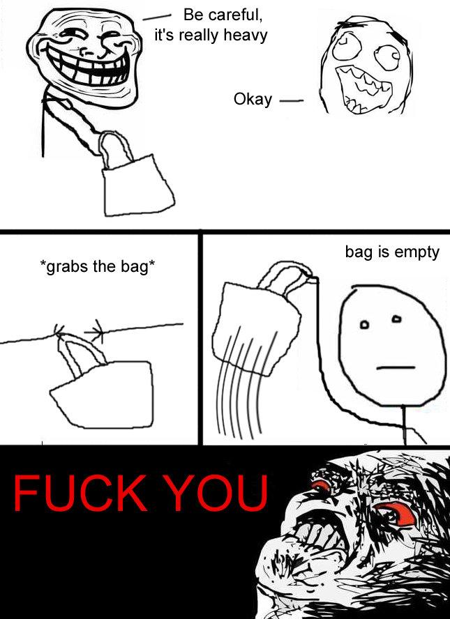 Bag is heavy. i didn't make that comic. Be careful, it' s really heavy () is em t grabs the bag' g p y