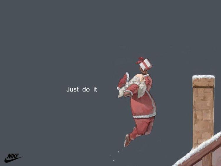 """ballin' santa. no deers needed. Just do it. """"deers"""""""