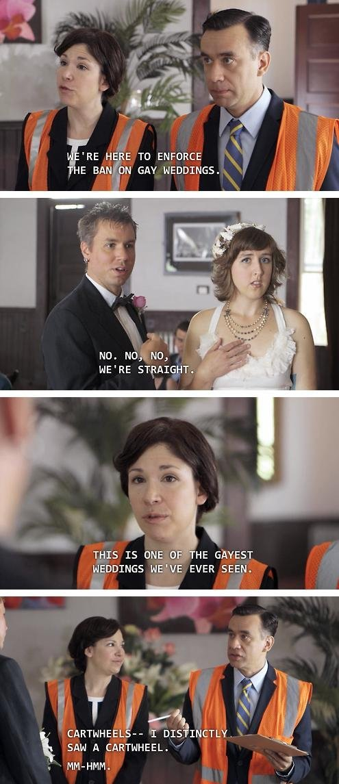 Ban on gay weddings.. . THE BAN DH GAY . 'oh, Tris IS ONE h HE HEYDINGO EVER SEEN. at 9 y' CARTWHEEL h- I DIS IDEALY.. Portlandia needs some recognition on this site. Hell, those always circle jerking about how bad Feminism is would love the Women and Women First skits.