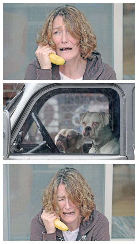 "Bananaphone. .. ""Please picke up! I got lost in a really ruff neighborhood."" ""..."" ""HURRY!"""