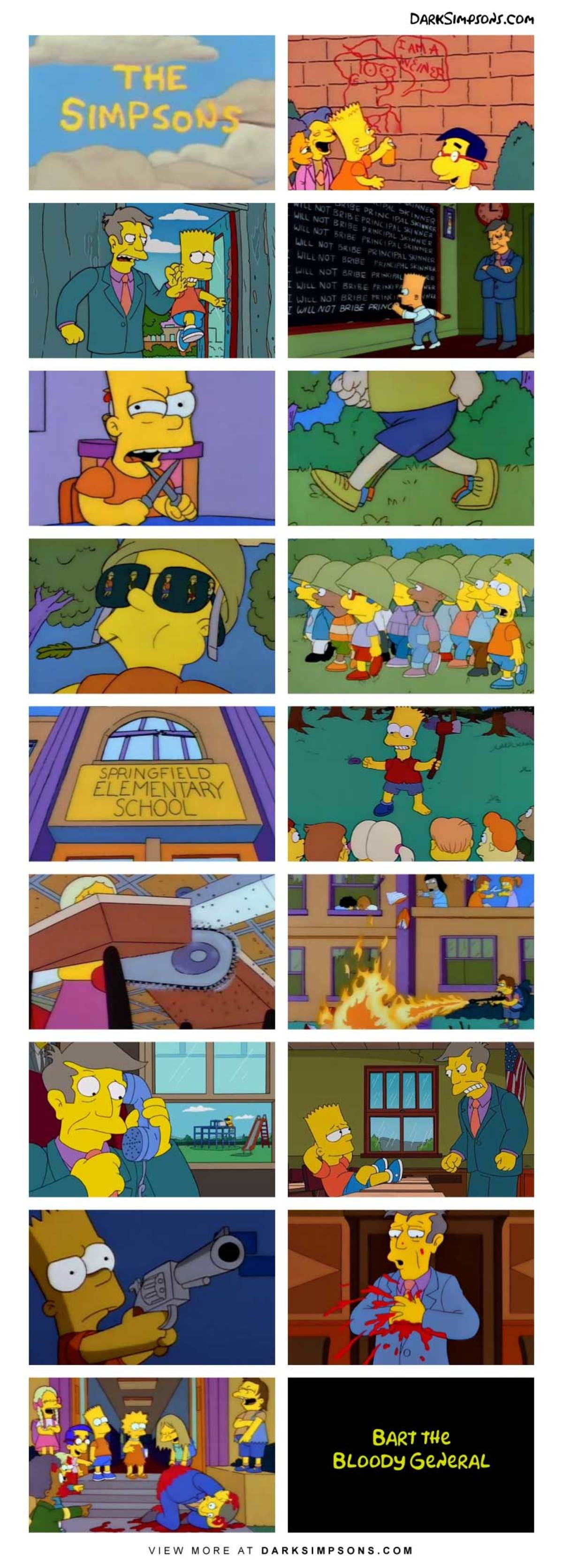 Bart: Start digging some nerd holes.. . Bapt we BLOODY. All the other kids with their pumped up kicks