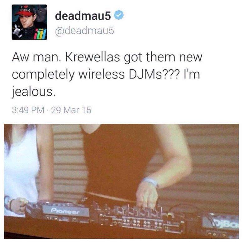 Based deadmau5. Pls don't start a war about push play djs. completely wireless Chah/ ls'?'?? I' m jealous.. Damn, bitch got burned.