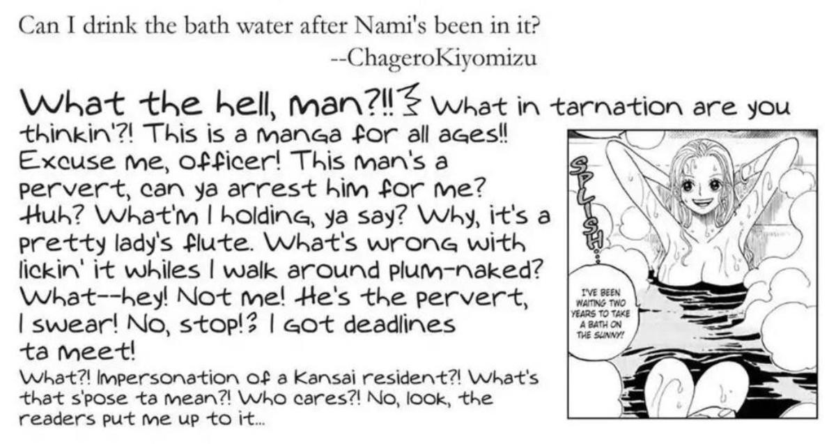 bath water. join list: onepiece (236 subs)Mention History.. Look guys lets all be honest... Nami would have an only fans when converted to usd a happiness punch is ~$929