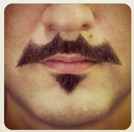 Bati-mustache. .. Bat'tache sounds better.