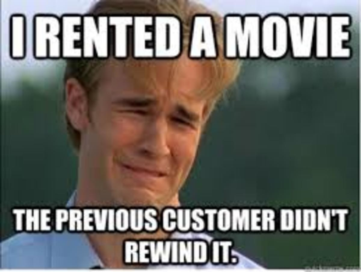 Be Kind and Rewind. .. so they rewind it at the store after charging the guy a fine they don't just put it back like that