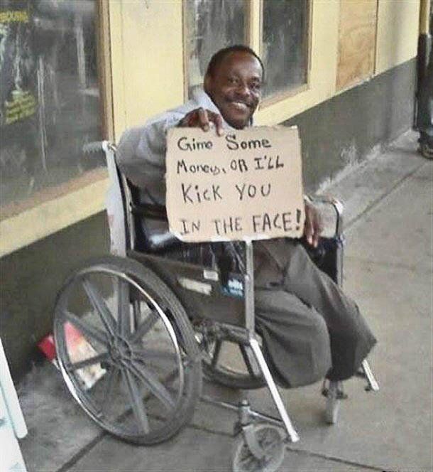 Be. Very. Afraid.. .. God bless this man for making the best of a bad situation.