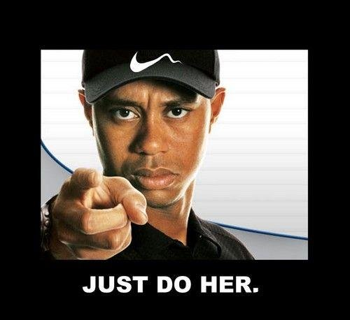 Be A Man. Just Do Her. JUST HER.. lolbot lol'd