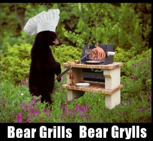 Bear grills. . Bear Grills Bear [mills. Here you can see a bear roasting bear grylls.