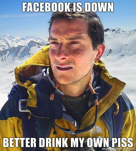 Bear Grylls. A Bear Grylls meme my friend made. Thought I'd at least throw it up.. Hill mun Mr INN Piss
