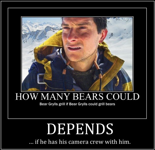 "Bear Grylls. Les Stroud kicks Bear Grylls ass!<br /> Response to <a href=""pictures/386984/Bear+Grylls/"" target=blank>www.funnyjunk.com/fun"