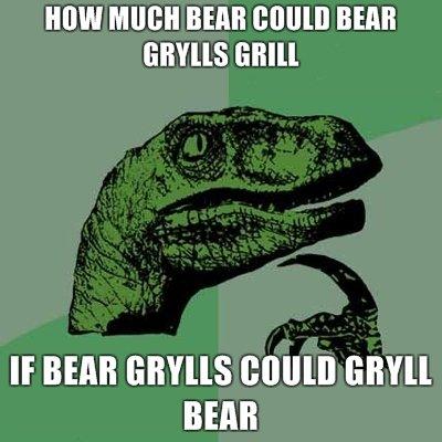 """Bear Grylls. OC. MW MUG"""" BEAR BEER GEM If BEAR ( MINI BEAR. """"I think i should drink my own urine"""" Bear Grylls."""