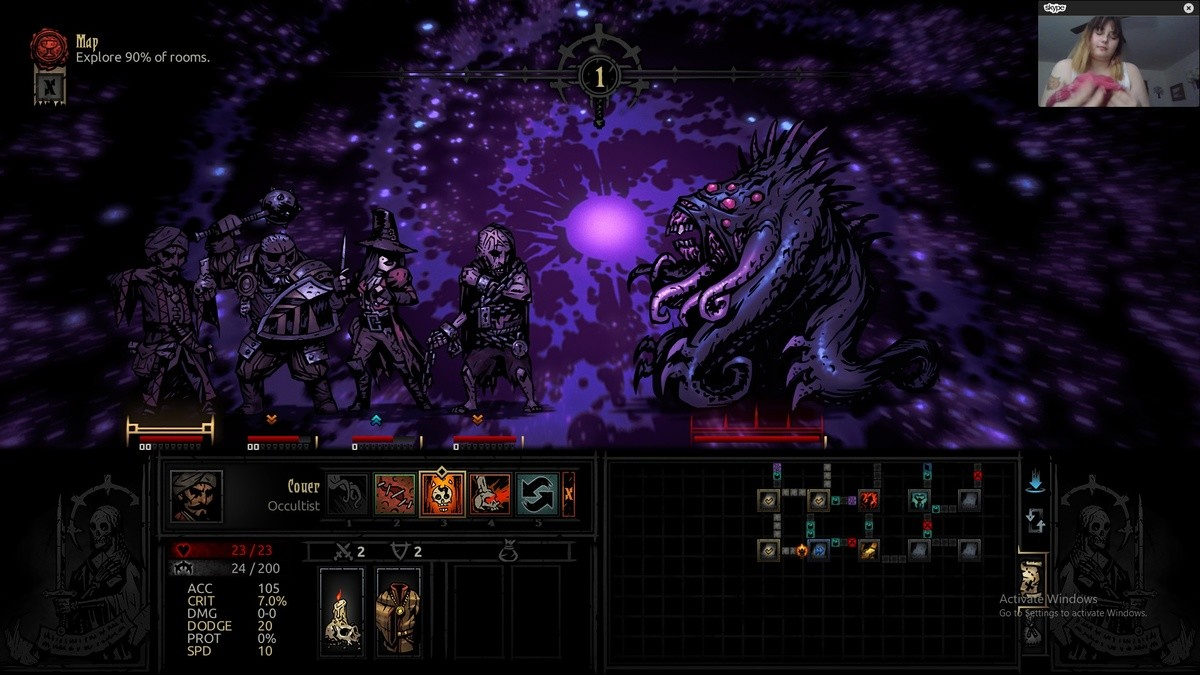 Beat the Shambler for the first time!. He was a 1% chance encounter on a pitch black encounter dungeon and I kicked his ass with no trinkets! A BRILLIANT CONFLU