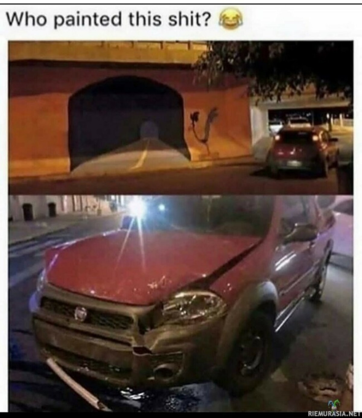 """beep beep. .. """"What if someone drives into the wall?"""" """"Don't be silly, no one would be this retarded"""" """"Yeah but what if?"""" """"Okay fine, I'll"""