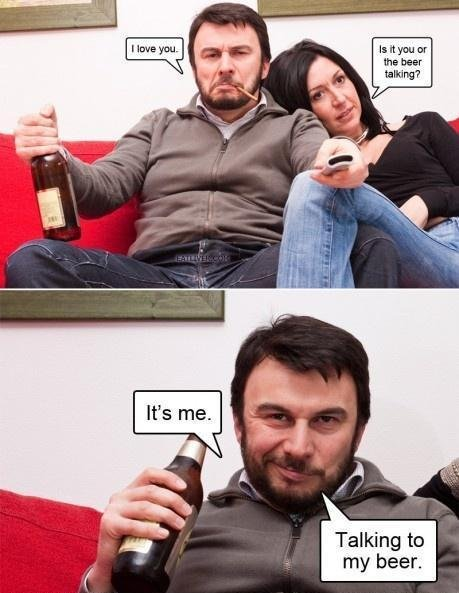 Beer Love. OC. In it mu it than bear Elana Taming tn my beer.. oc my ass