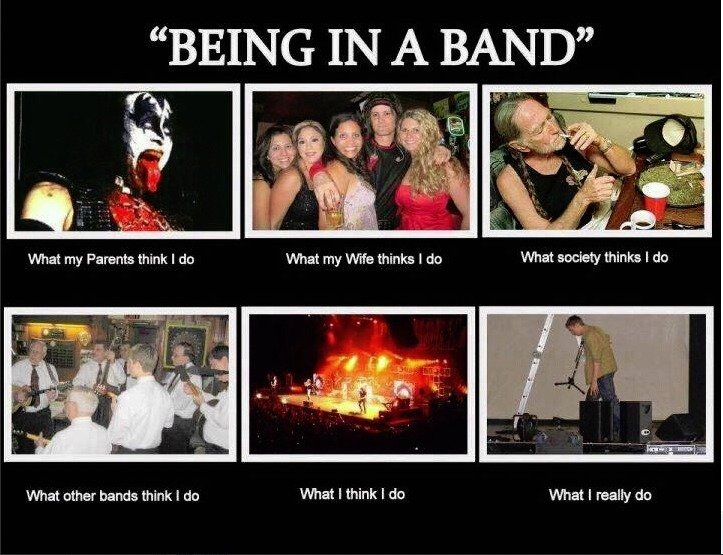 being in a band :D. . What other I do What I think I do What I really do