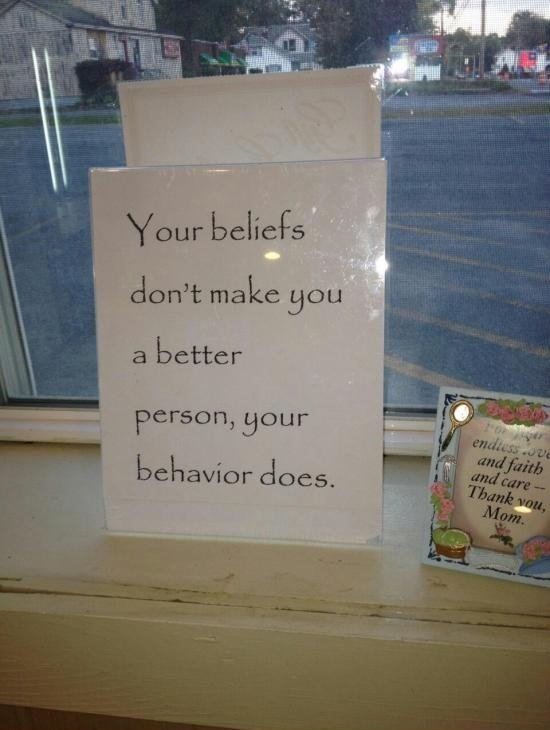 Beliefs. .